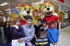 Youngsters with the Bright House bear at the opening of the new store in The Shires (55228665)
