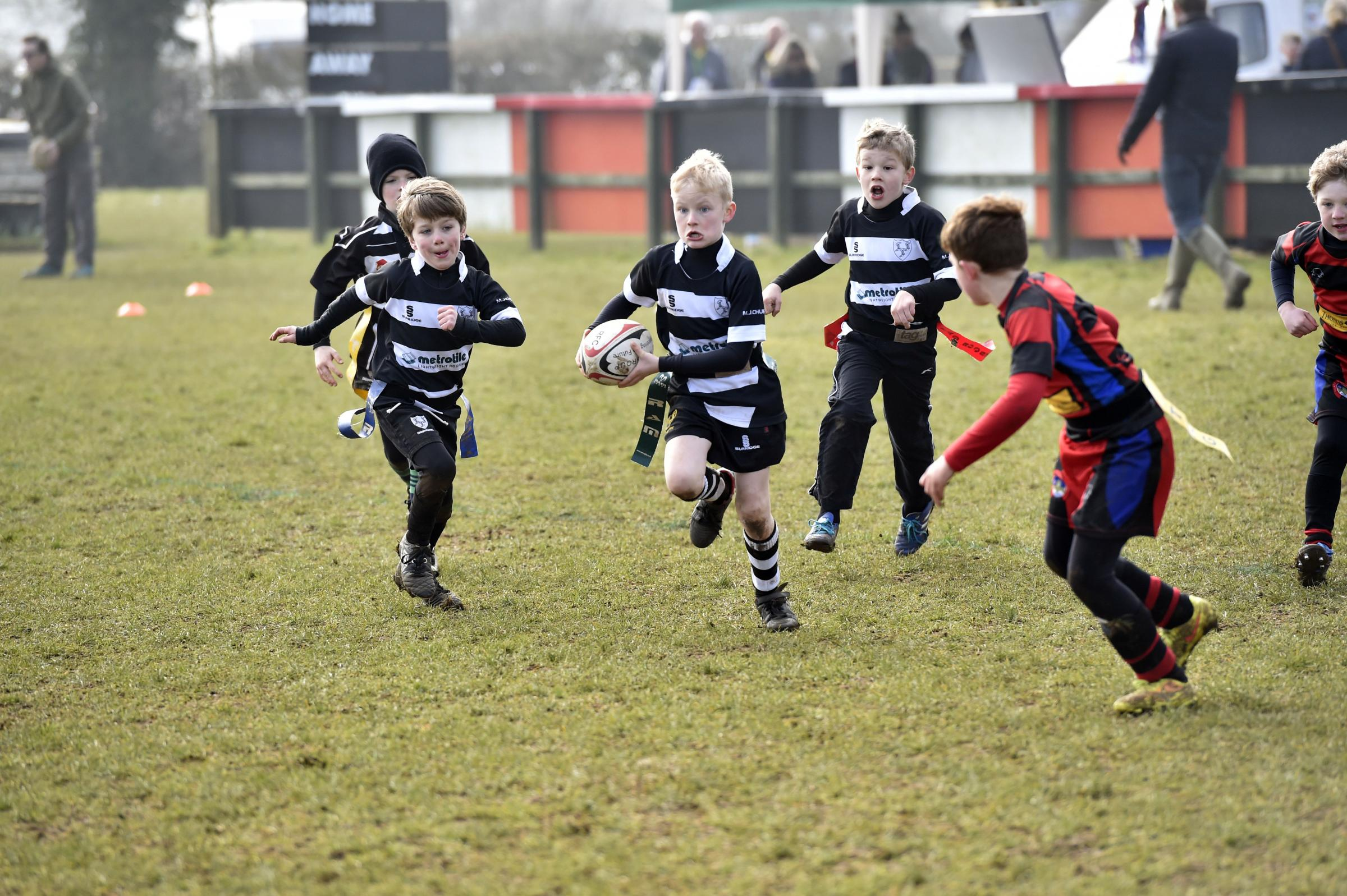 Chippenham U12s (black & white) take on Bridgend Ath Allstars