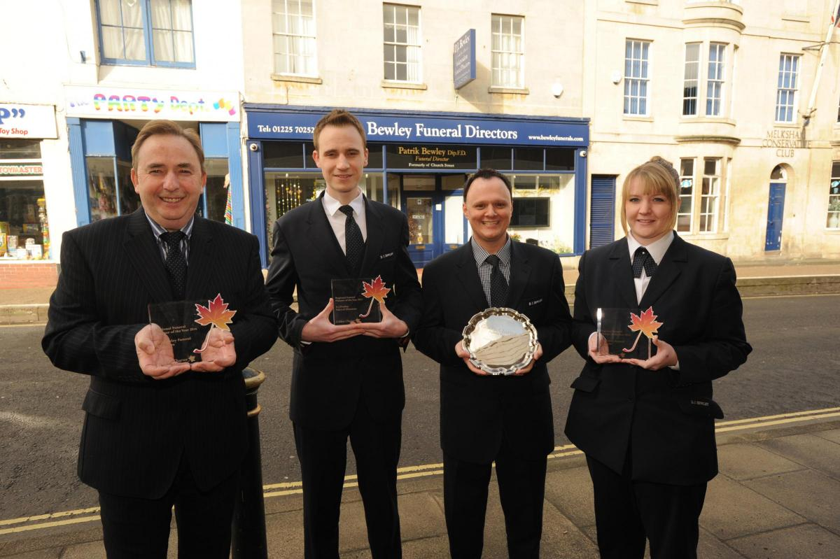 melksham bewley funeral directors awarded funeral planner of the