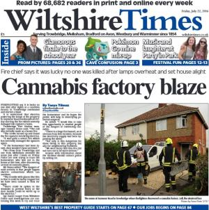 Wiltshire Times: Don't miss this week's new-look Wiltshire Times. Find out about the blaze at a cannabis factory here