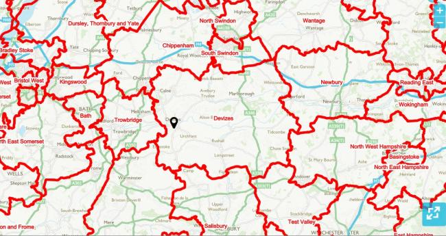 Map Of Uk Mps.Wiltshire Mps Look To Constituents For Views On Boundary Changes