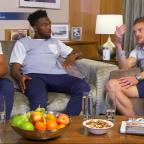 Wiltshire Times: Jamie Vardy shocked Daniel Sturridge and Adam Oxlade-Chamberlain with his maths skills on Gogglebox