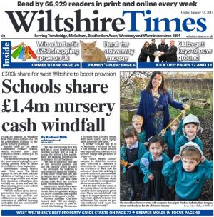 Wiltshire Times: Schools share £1.4m cash windfall plus the chance to win a £250 shopping spree in the Wiltshire Times -  second token in this week's paper