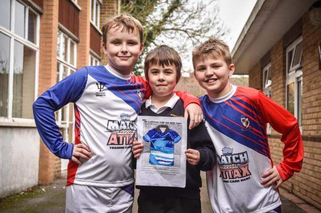 Boy with Asperger     s delighted after winning footie shirt design     Wiltshire Times Boy with Asperger     s delighted after winning footie shirt design comp