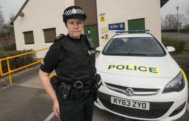 Wiltshire Times: Sergeant Gemma Vinton from Swindon Police West Point talking about the number of indecent exposure cases in Swindon27/03/17Pictures Clare Green/ www.claregreenphotography.com