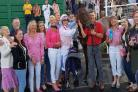 Syndicate members celebrate Staverton-trained Bounty Pursuit's second-placed finish at Chepstow last week