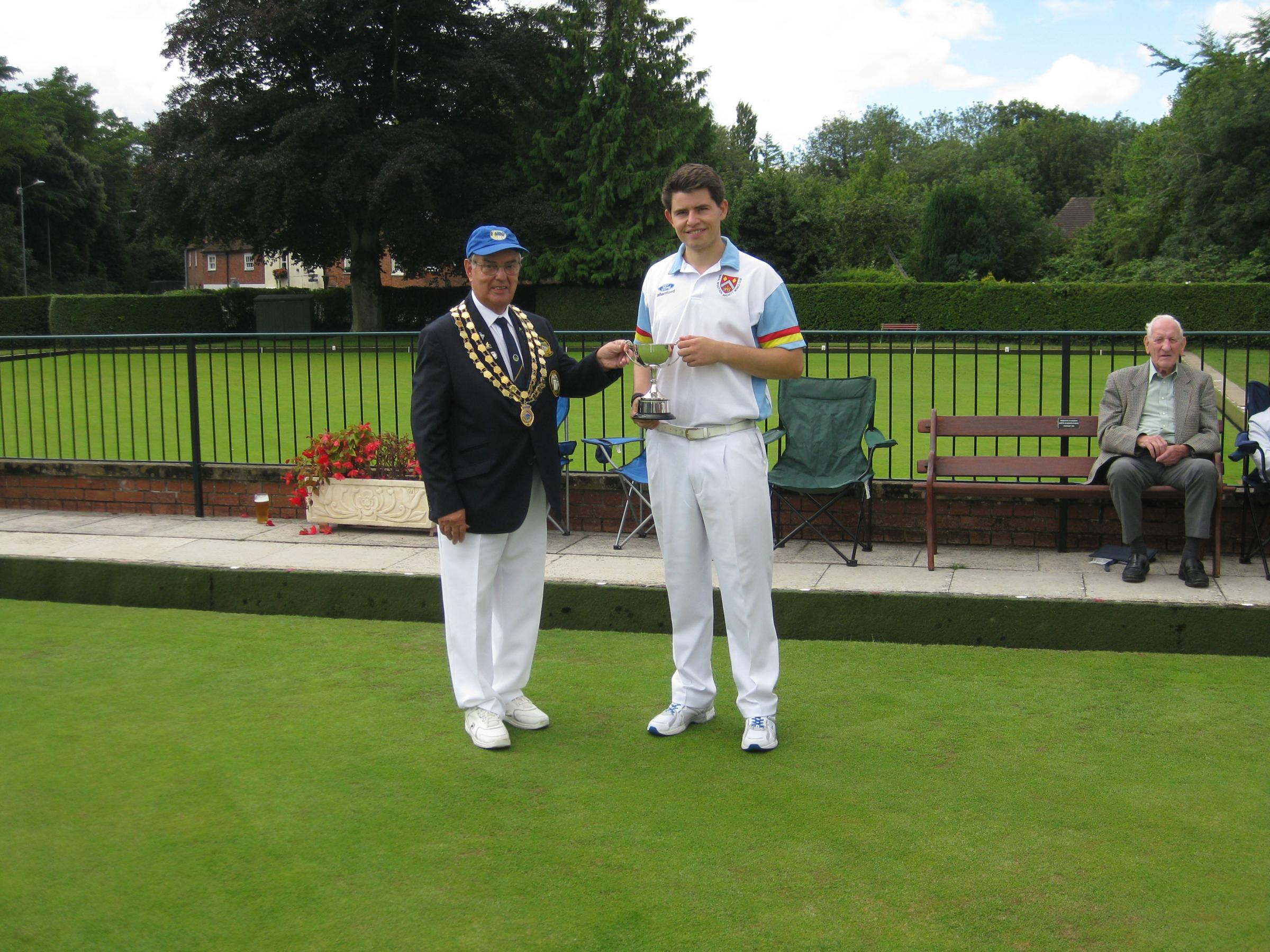 Royal Wootton Bassett's Kyle Anderson is crowned the Wiltshire U25 Singles champion