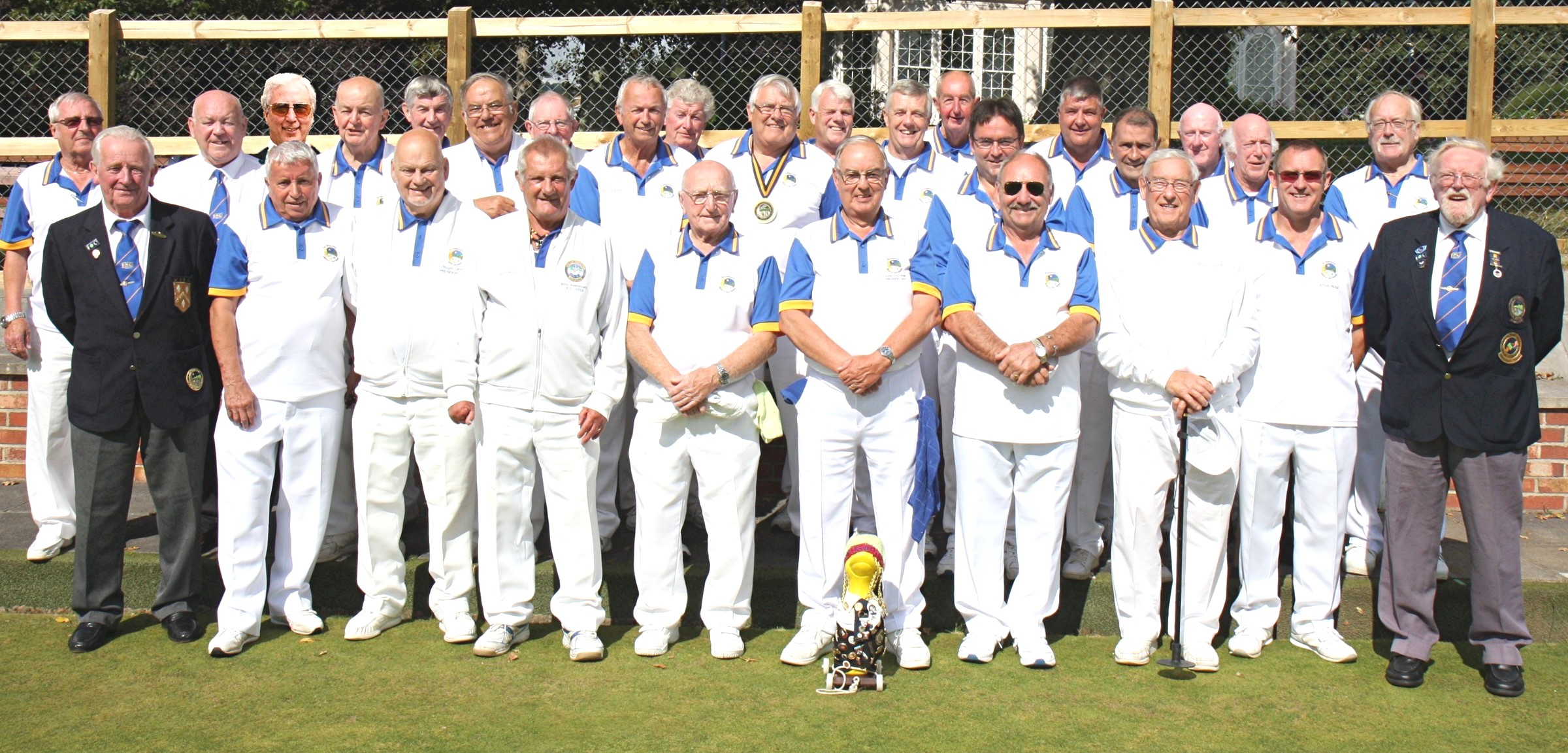 Wiltshire president's touring team, pictured before their match against Bitton Park in Devon