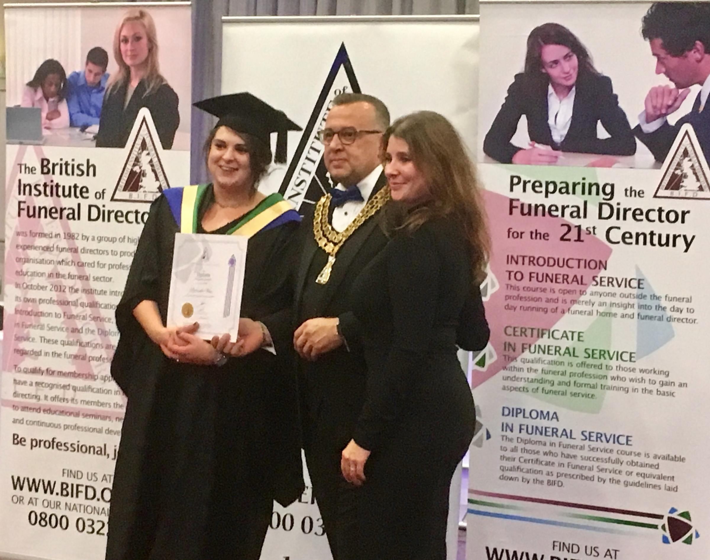 diploma delight for trowbridge funeral director wiltshire times