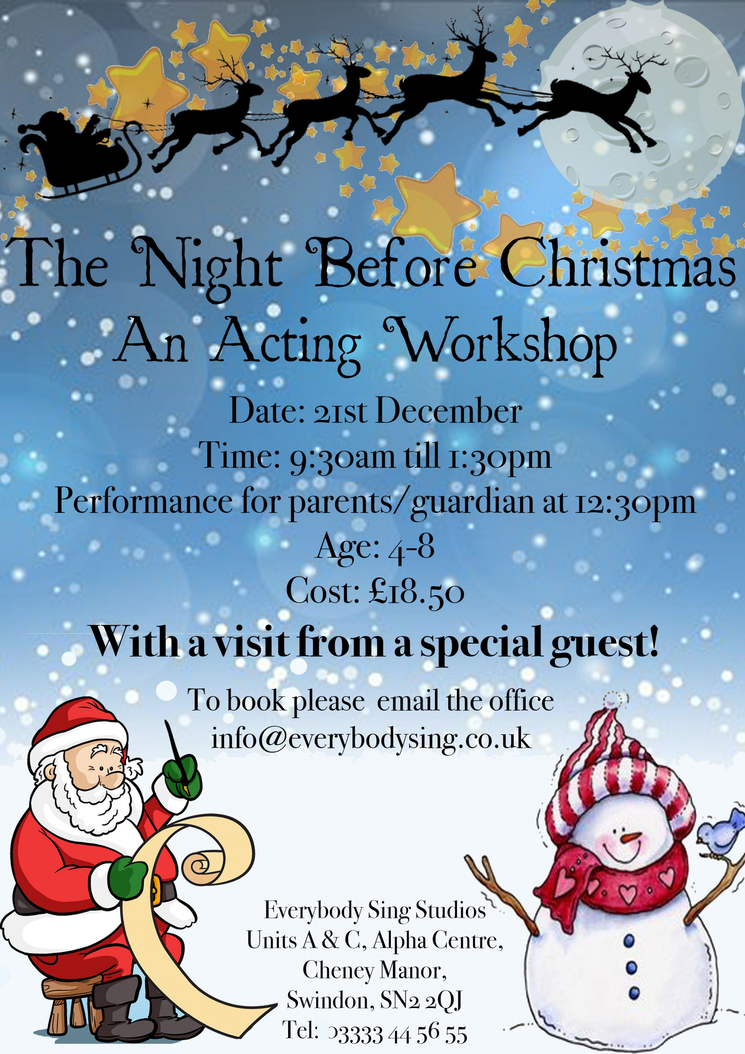 The Night Before Christmas - Acting Workshop