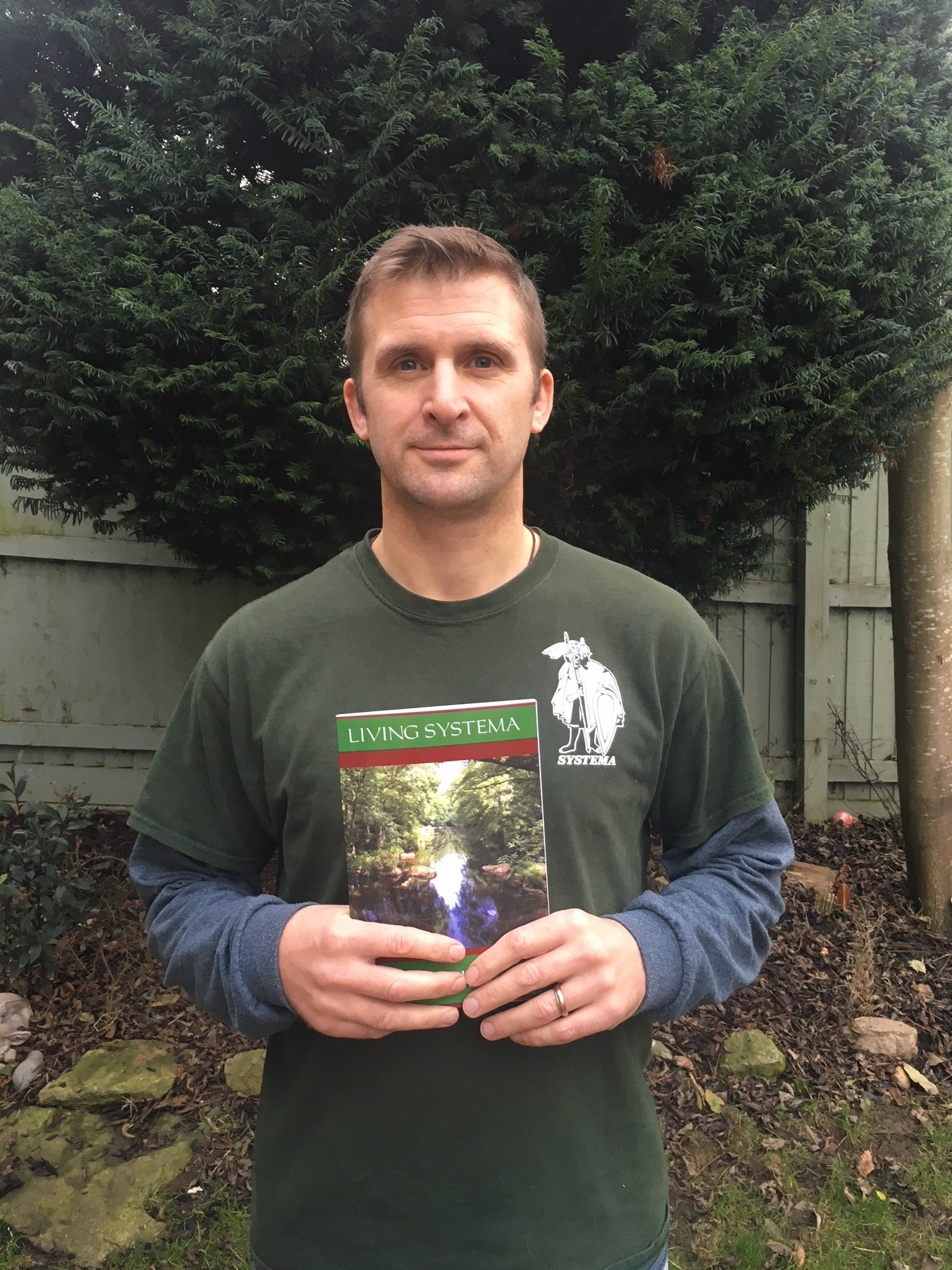 Matt Hill of the System Academy in Melksham with his latest book, Living Systema.
