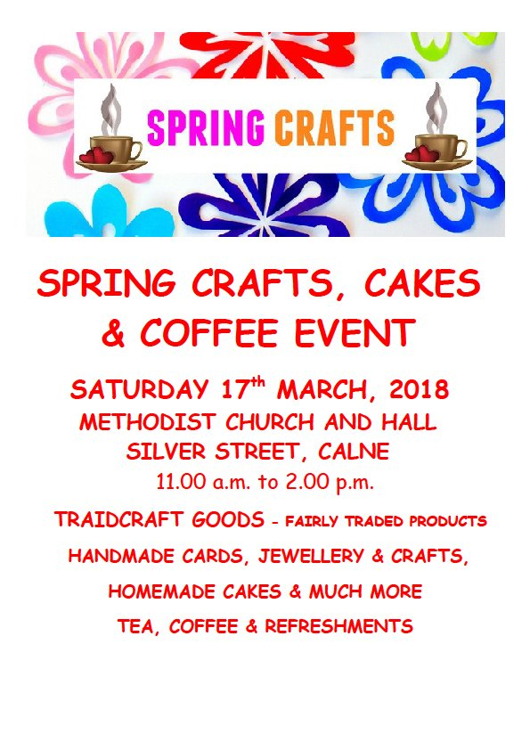 Spring Crafts, Cakes & Coffee Event