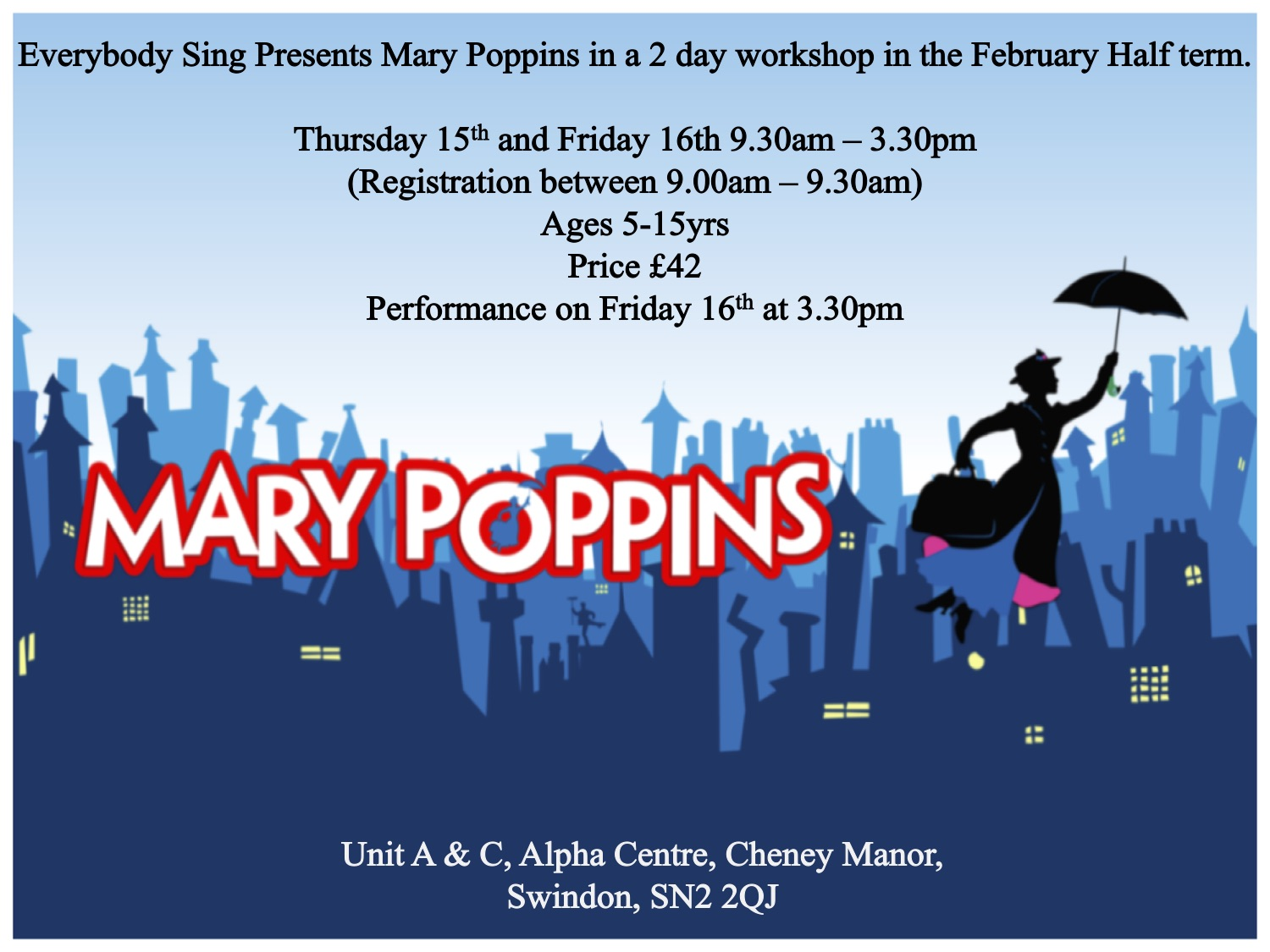 Mary Poppins - February Half Term Workshop