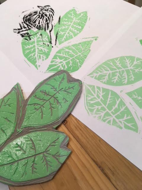 Repeat Pattern Lino Cutting (Inspired By Nature)