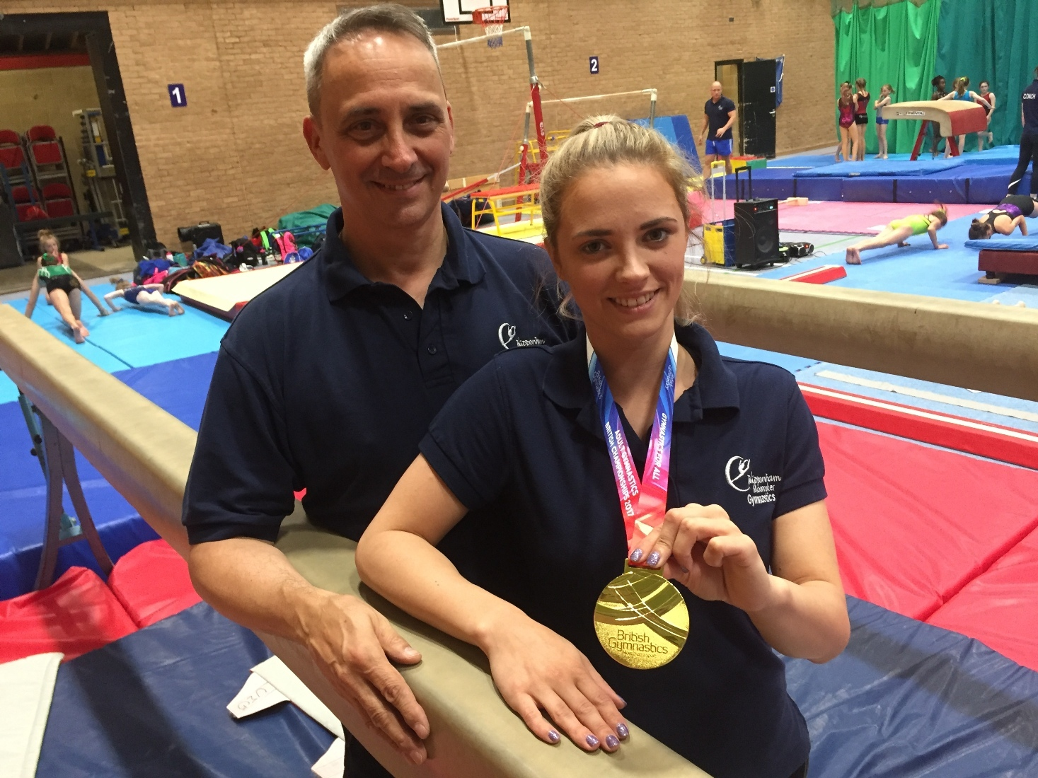 Wiltshire Life Awards nominee Hannah West with her father Steve and her gold medal.