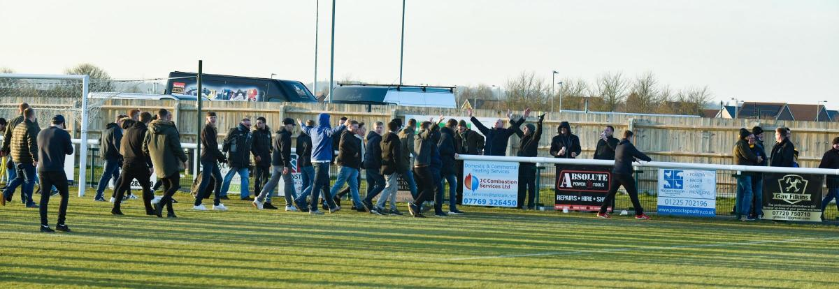 Ugly Crowd Scenes As Melksham Town Go Out Of The Fa Vase Wiltshire
