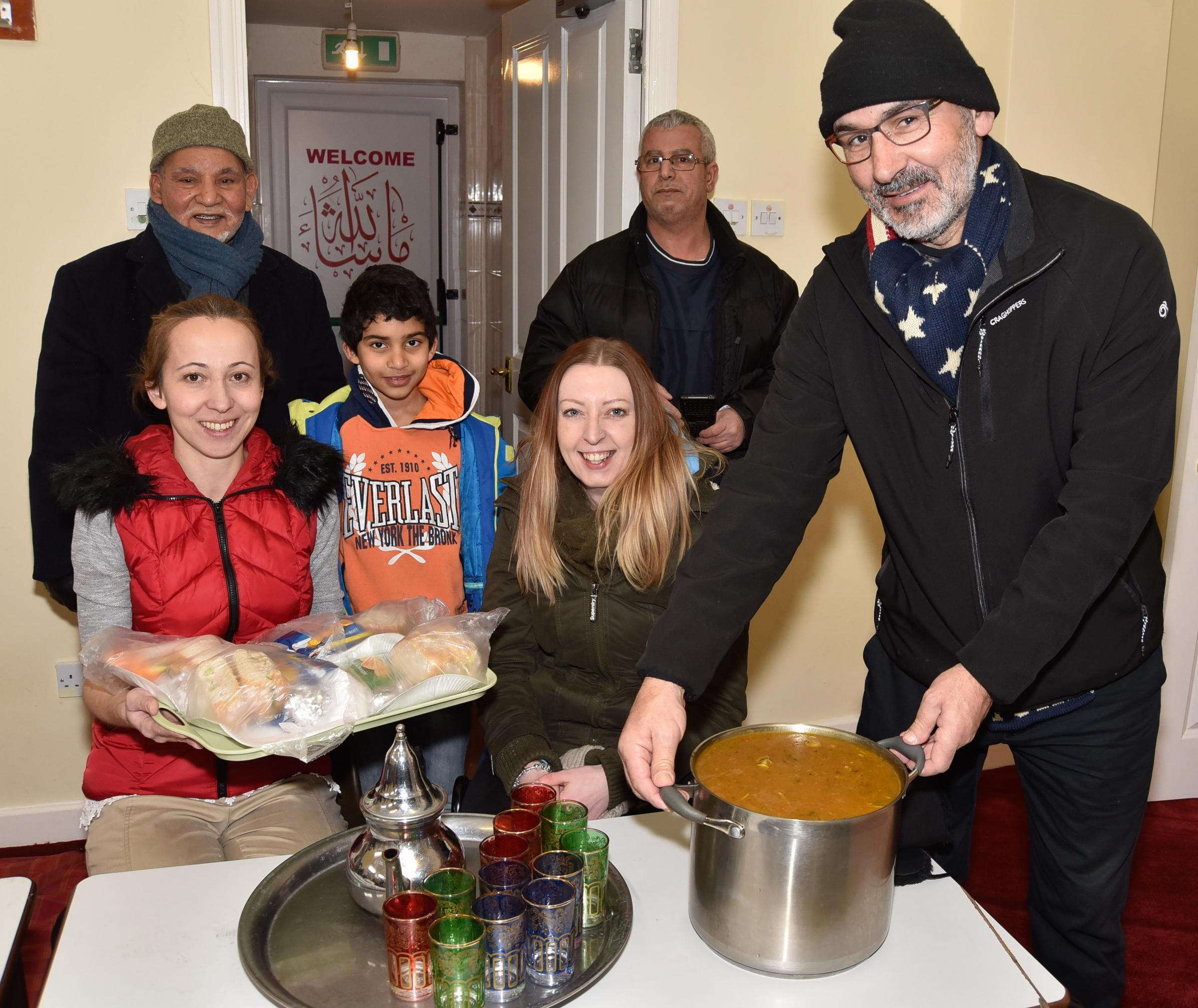 Selfless Mosque Members And Volunteers Help The Homeless With Soup Kitchen
