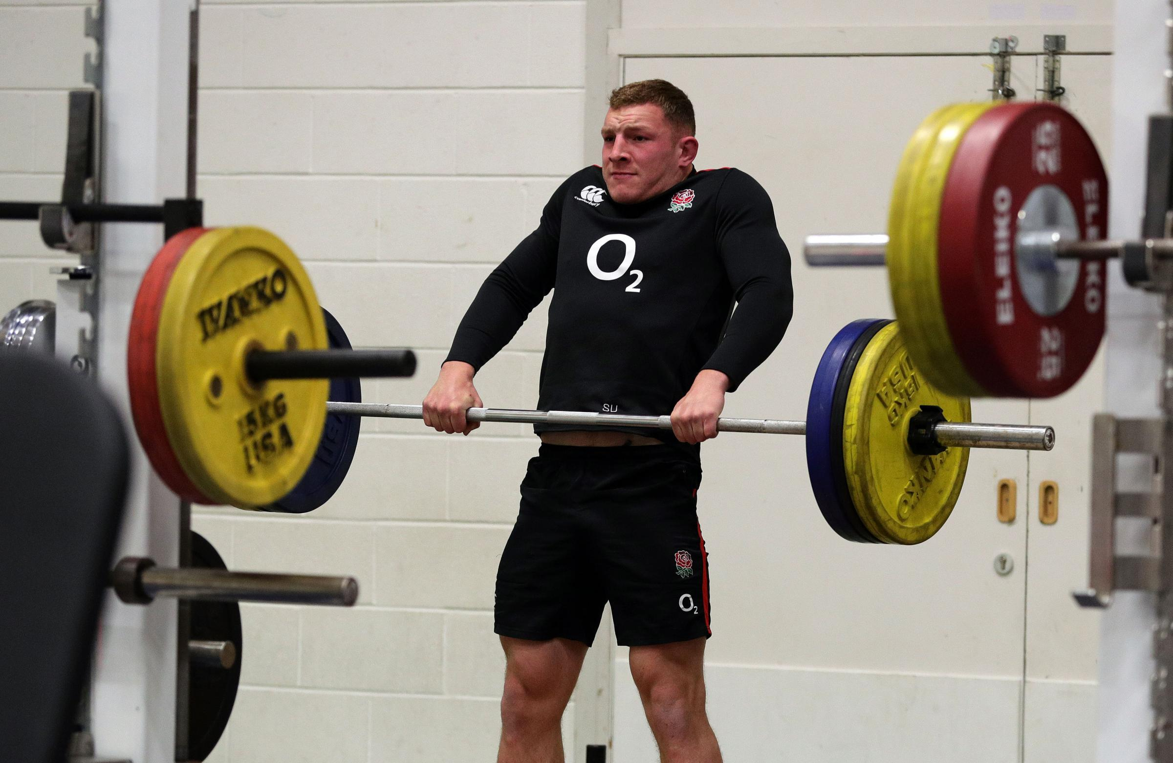 England's Sam Underhill during the training session at St Edward's School, Oxford last week