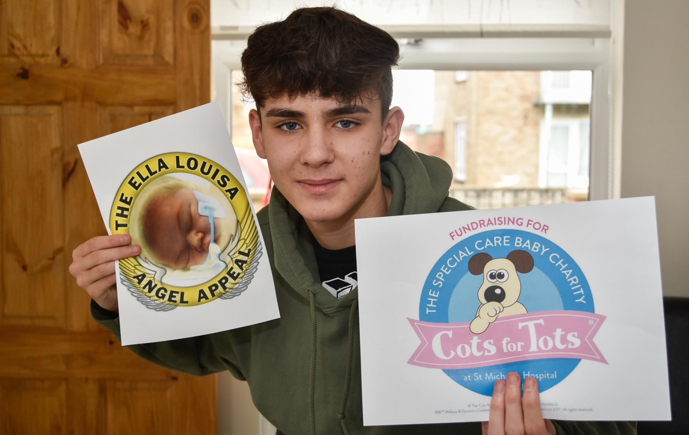 Josh Drury (17) of Trowbridge is doing a sponsored skydive to raise money for charity  Cots for Tots, in memory of his sister Ella Louise.Photo by www.gphillipsphotography.com  GP1227