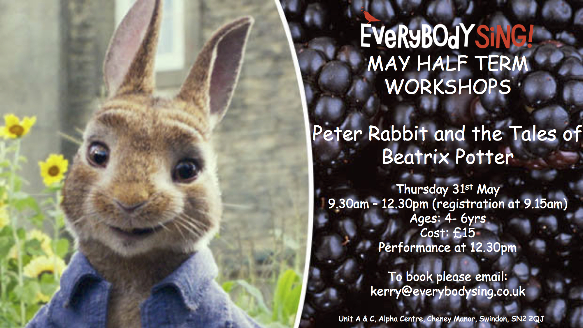 Musical Theatre Workshop  - Peter Rabbit & the tales of Beatrix Potter