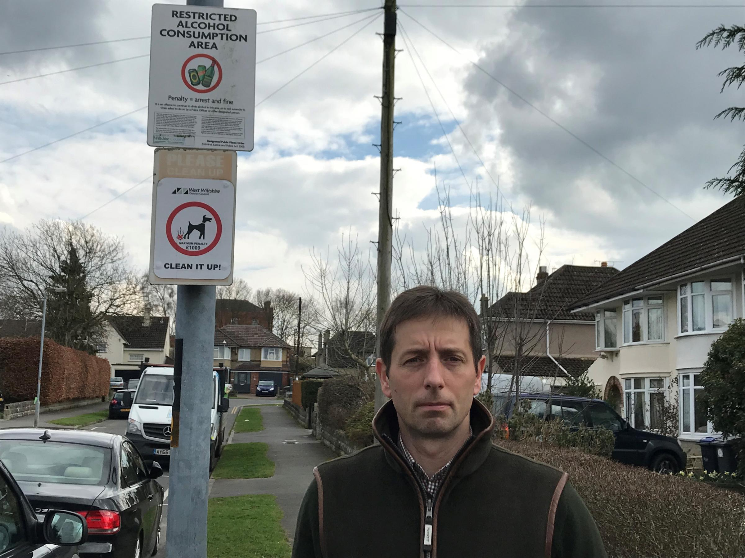 Cllr Edward Kirk is very concerned about people not picking up dog waste.