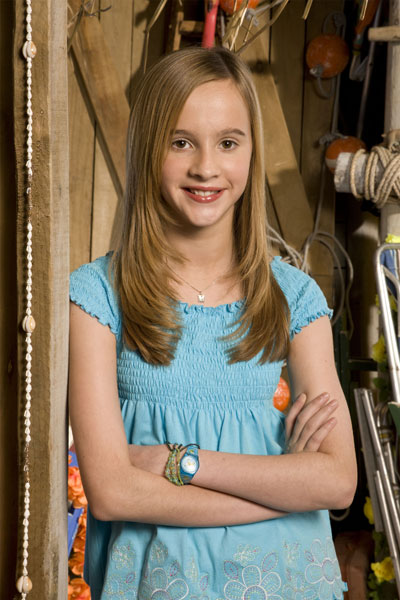 Holly Bodimeade as Megan in the new CBBC series Paradise Cafe