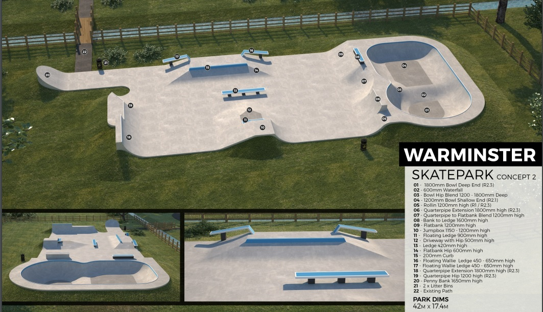 Plans for Warminster Skate Park approved by Wiltshire Council