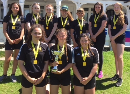 Clarendon Academy girls U15s cricket team were crowned Wiltshire champions