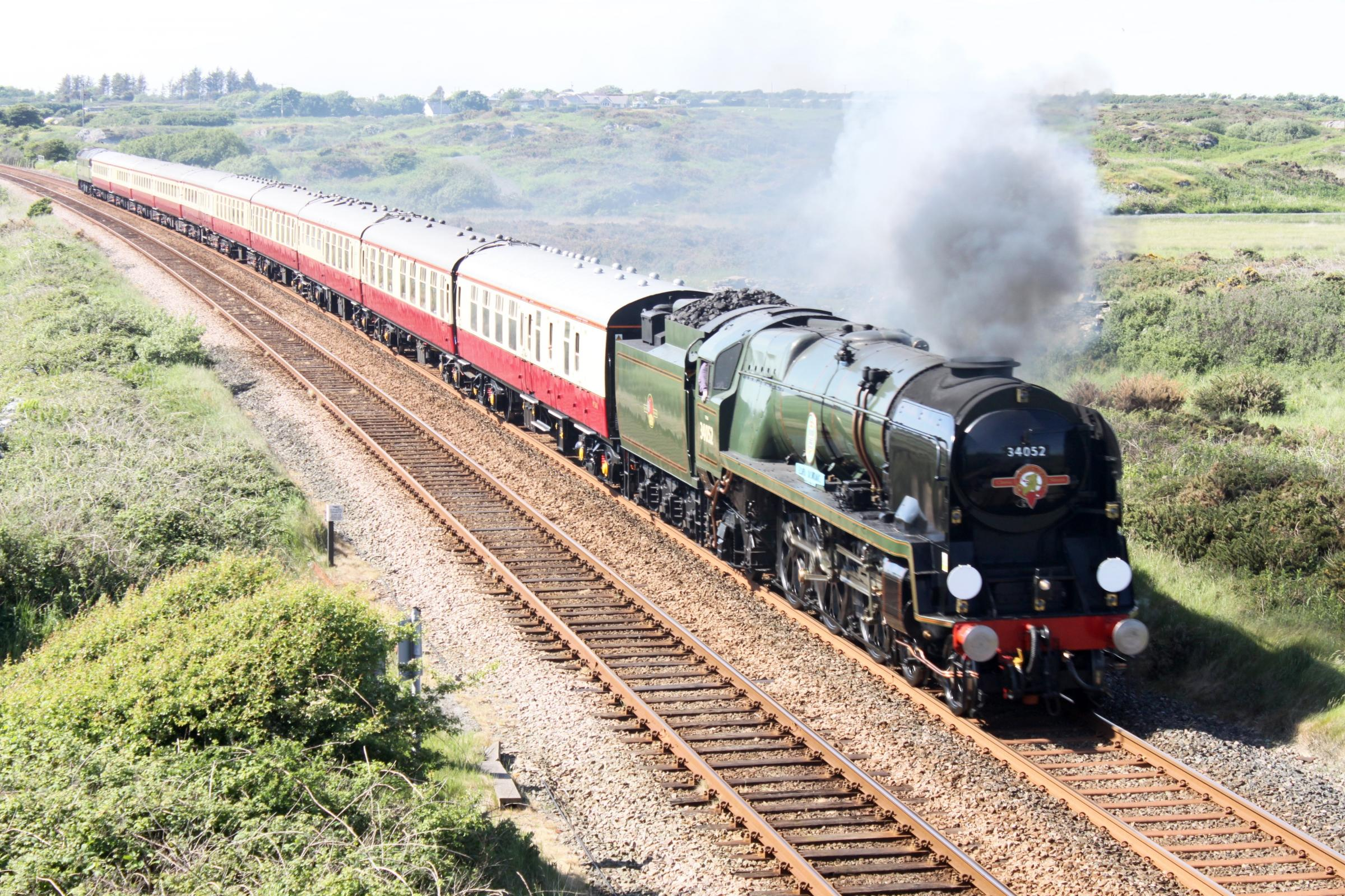 The 34052 Lord Dowding on a trip earlier this year.