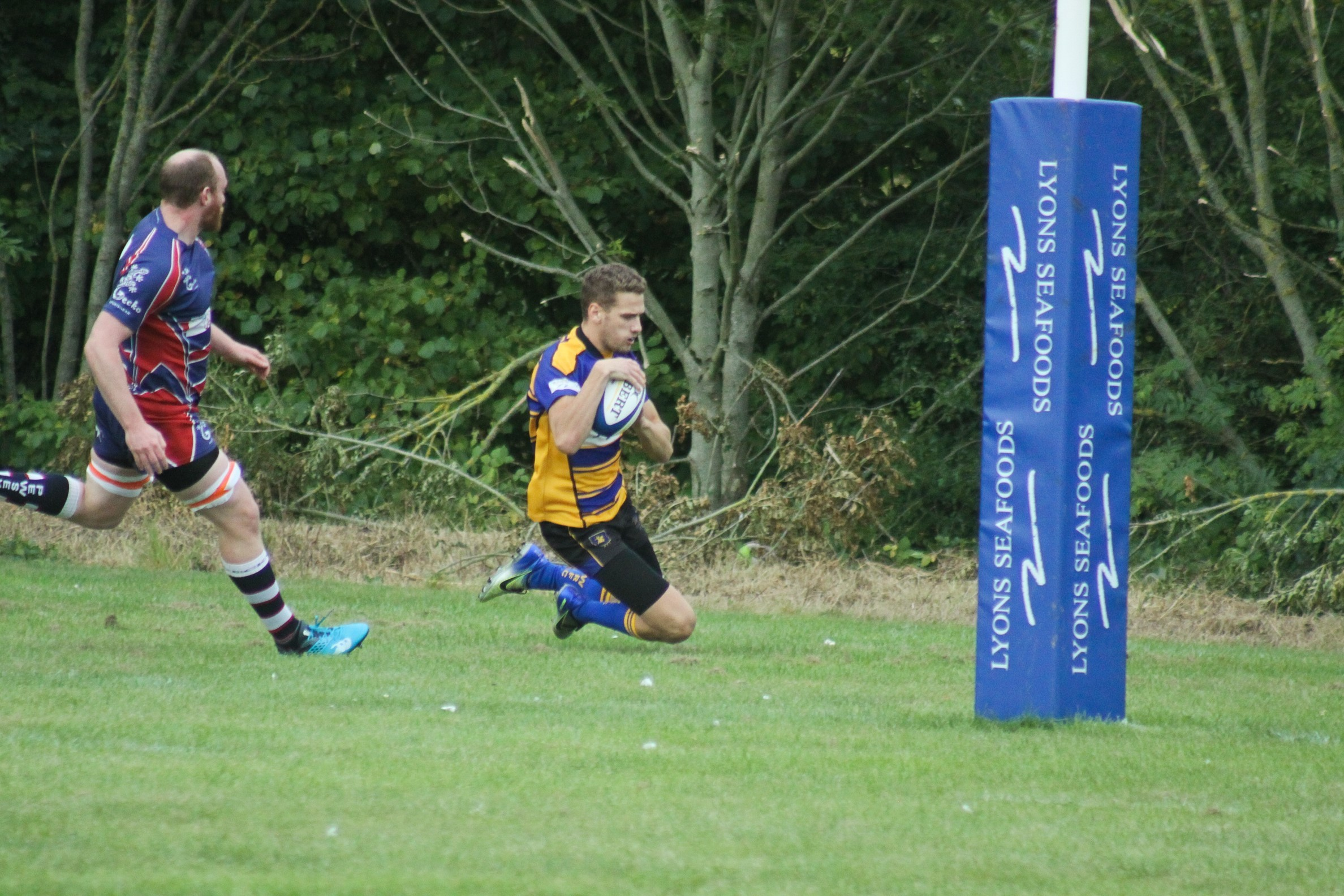 Tom Evans was a try scorer for Warminster Picture: DAN DUNNE