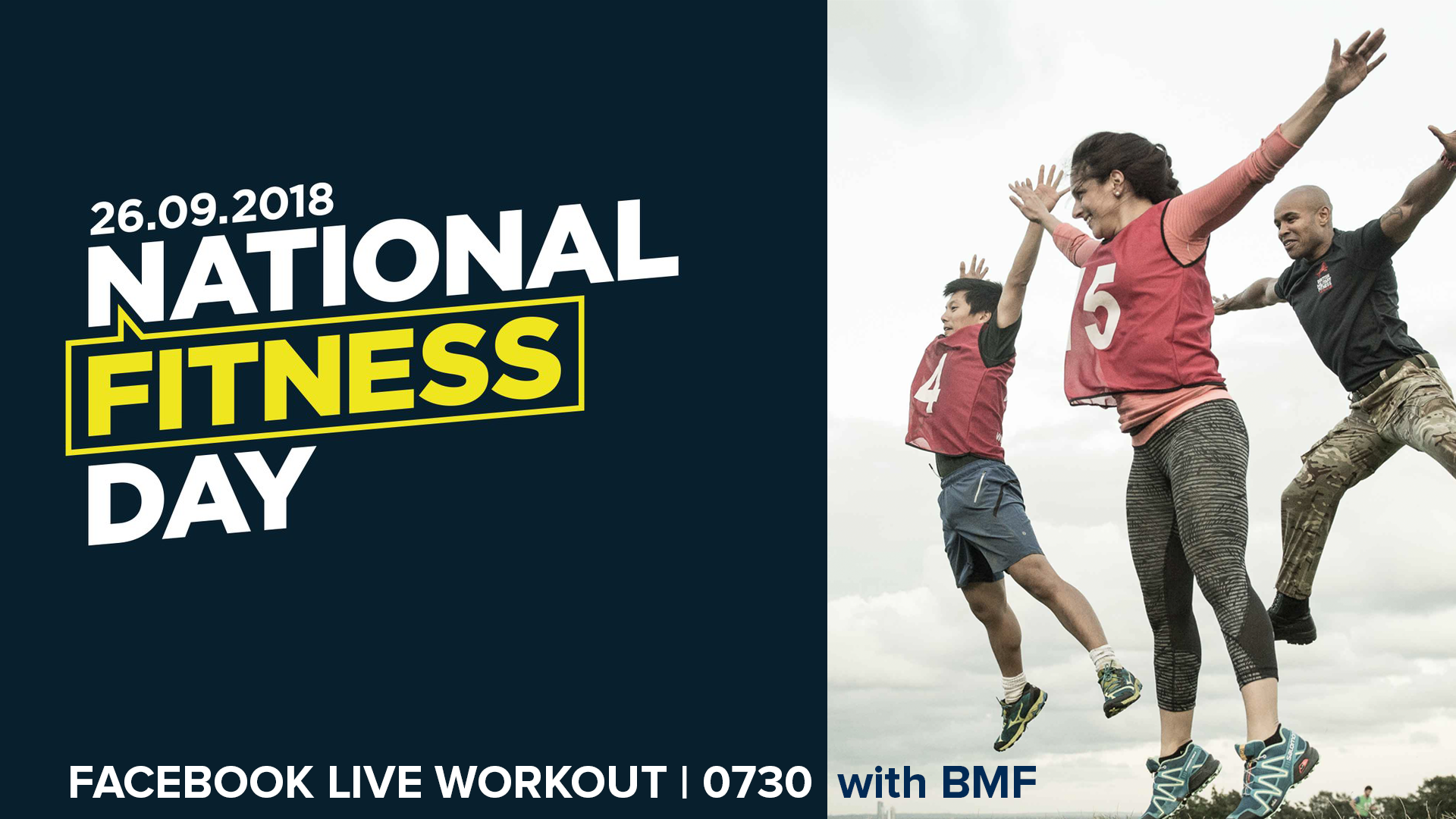 BMF Live Workout with Bear Grylls: National Fitness Day 2018