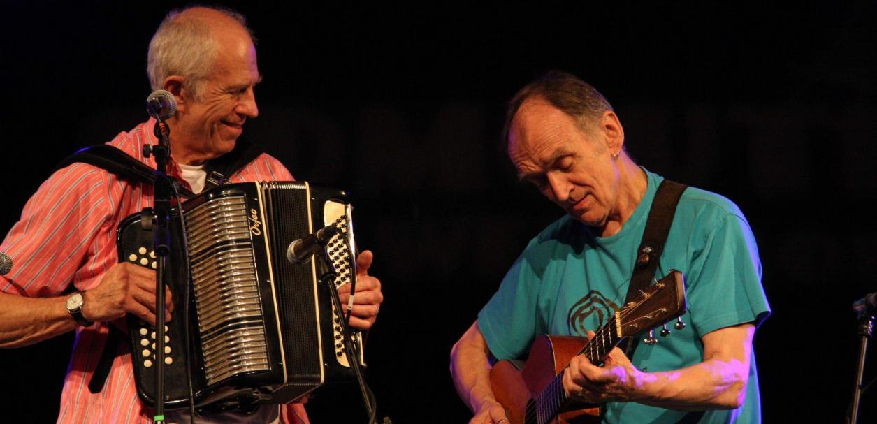 Martin Carthy and accordion player John Kirkpatrick Photo: Derek Schofield