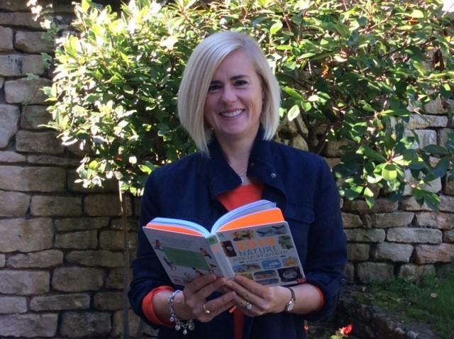 Author Anna Wilson With The Childrens Almanac 2019 Being Sold Through National Trust