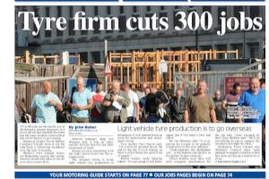 Melksham Tyres cuts 300 jobs  Read more stories like this here...