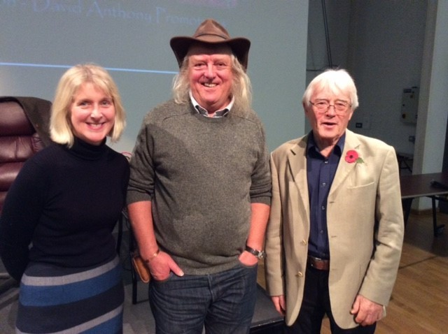 Time Team expedrt Phil Harding (centre) with Sophie Hawke and Roy Canham of Bradford on Avon Museum