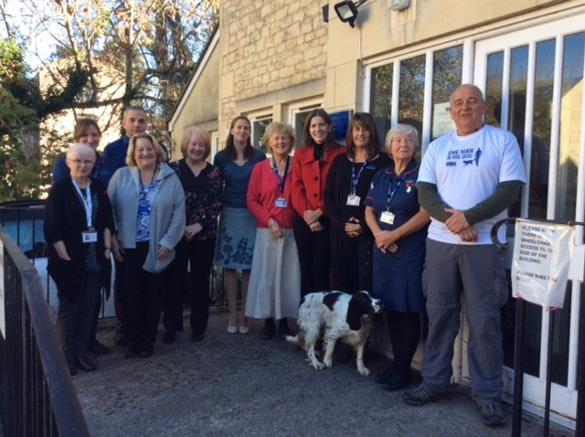 John Davies and Myrtle meet Michelle Donelan MP and members of the Transforming Care for Older People Group before starting the last leg of his One Man and His Dog tour