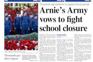 Petition from Arnie's Army in bid to save Trowbridge school Read more stories like this here...