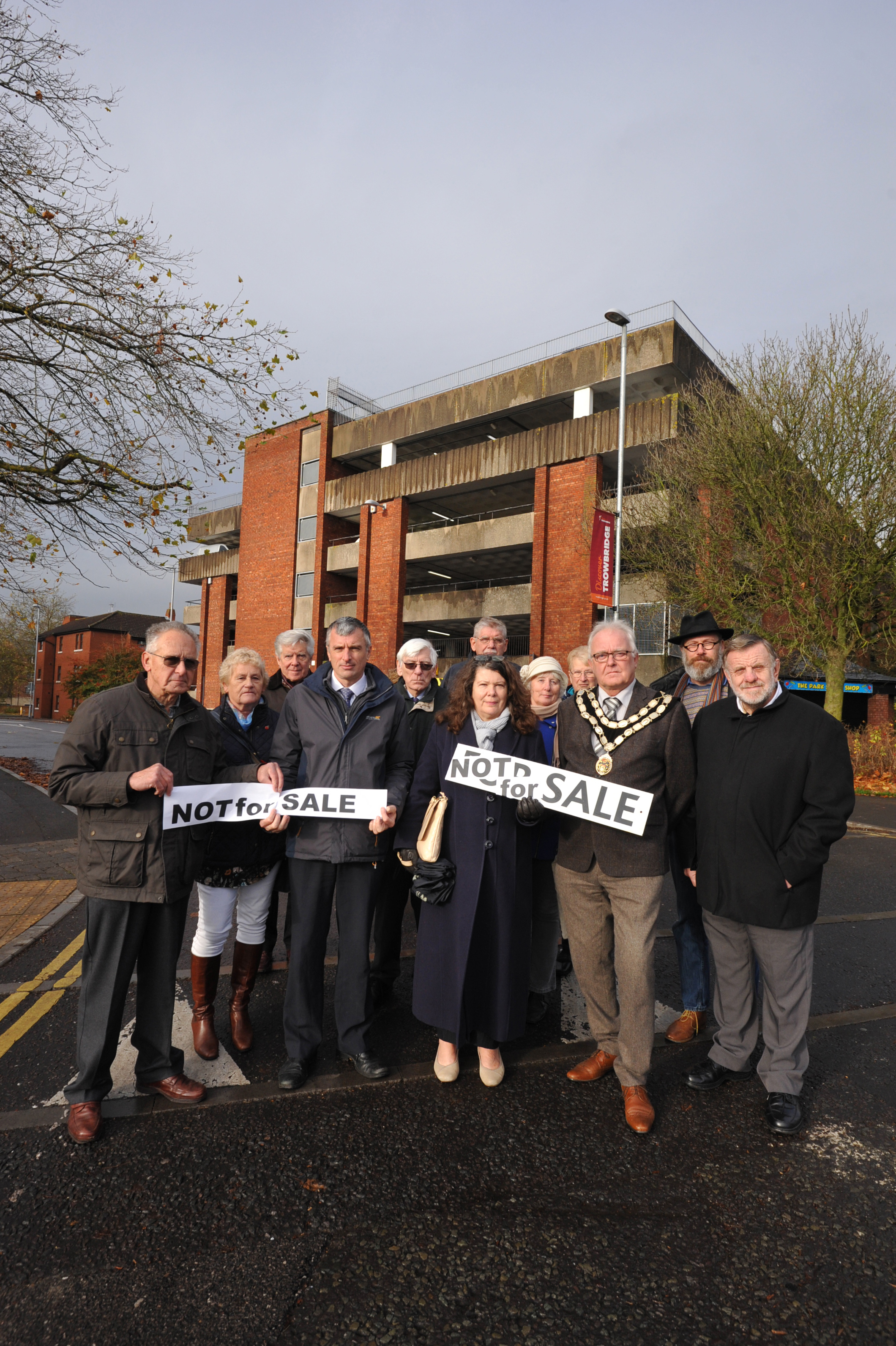 Multi Storey Protest.Councillors and Residents  protest about the Wiltshire County proposal to sell the Multi Storey car park despite the covenant.. Photo Trevor Porter 60049 4..