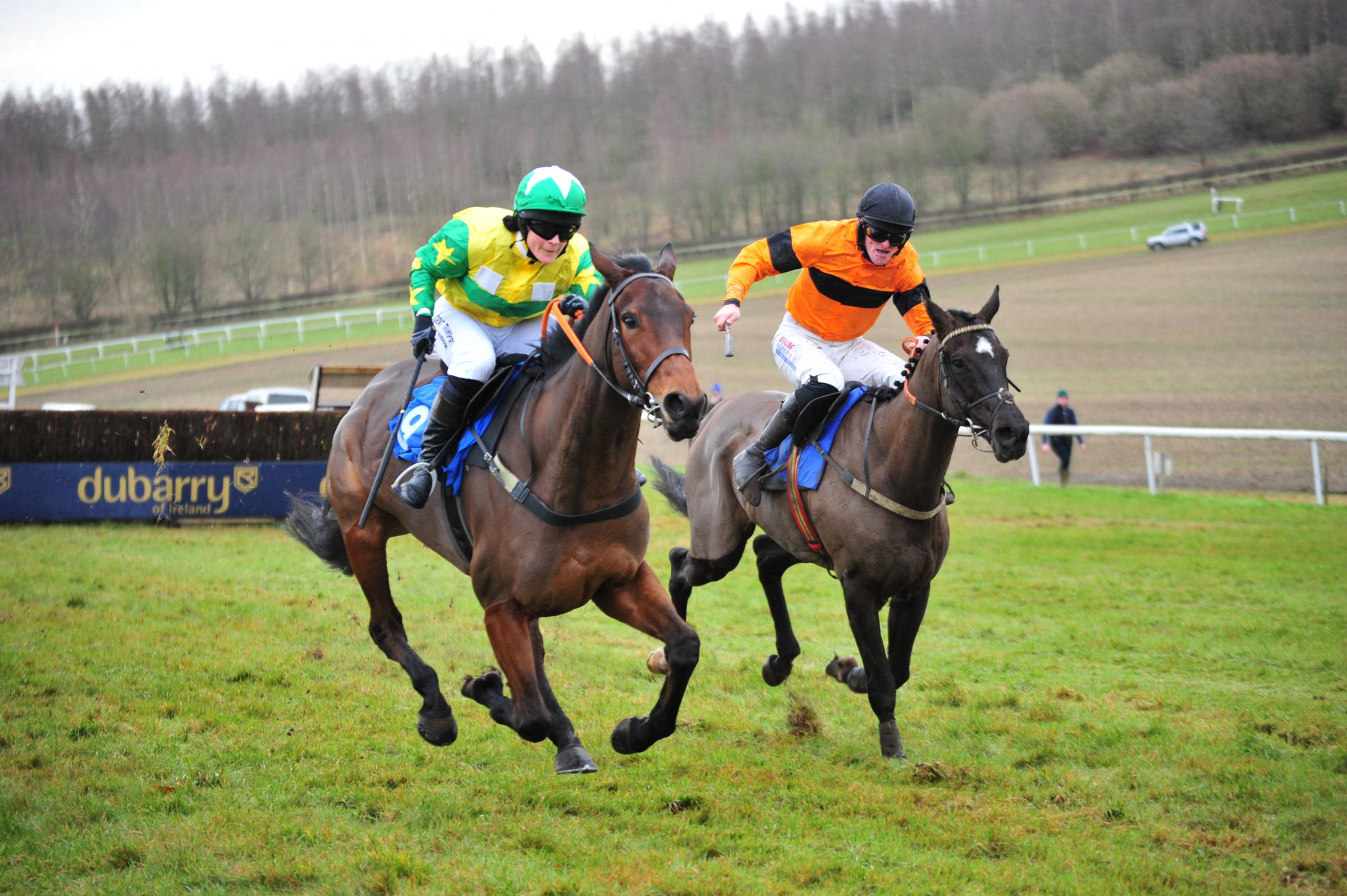 Isla's Dream and Jo Supple win the opening race at Barbury on Sunday, December 16.