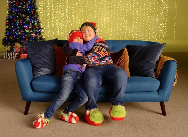 Finn Martin and older brother Archie starring in the Morrisons and CLIC Sargent video.