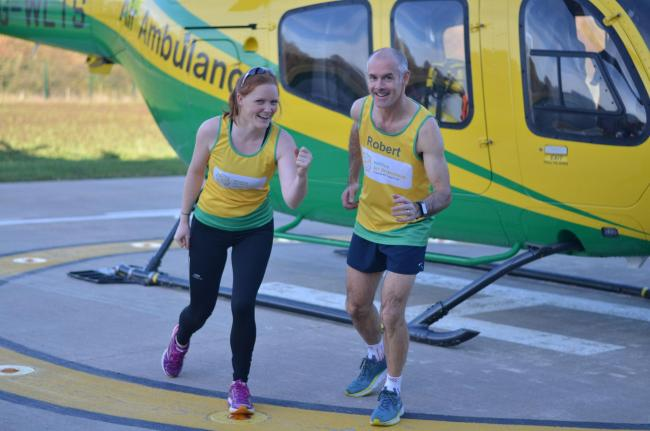 Aircrew Sophie and Rob begin their marathon training