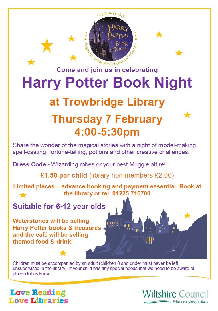 Harry Potter Book Night at Trowbridge Library