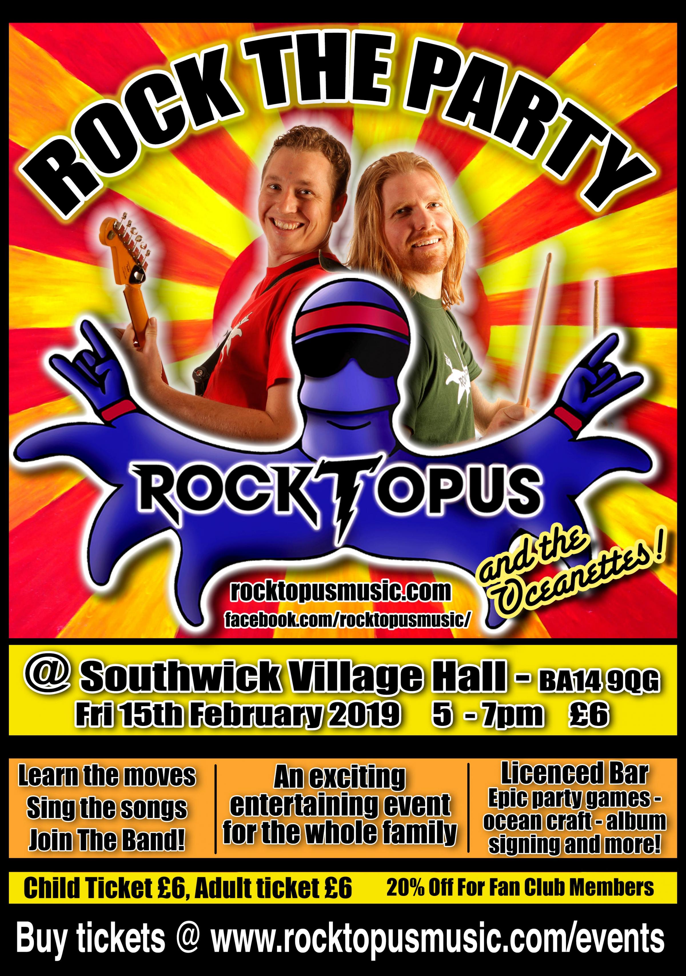 Rocktopus: Rock The Party: The Family Rock Show