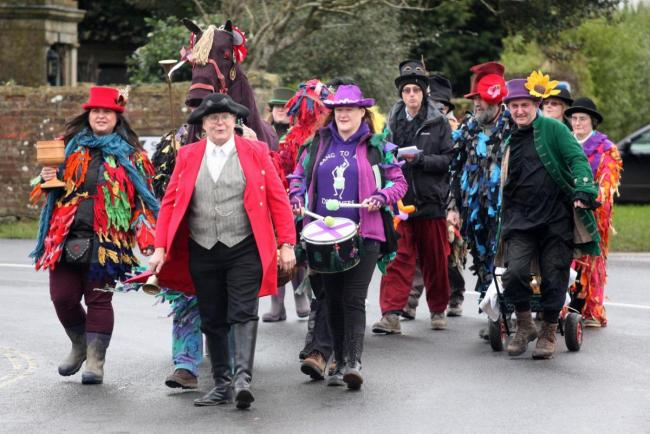 Wassailing took place this weekend in Avebury