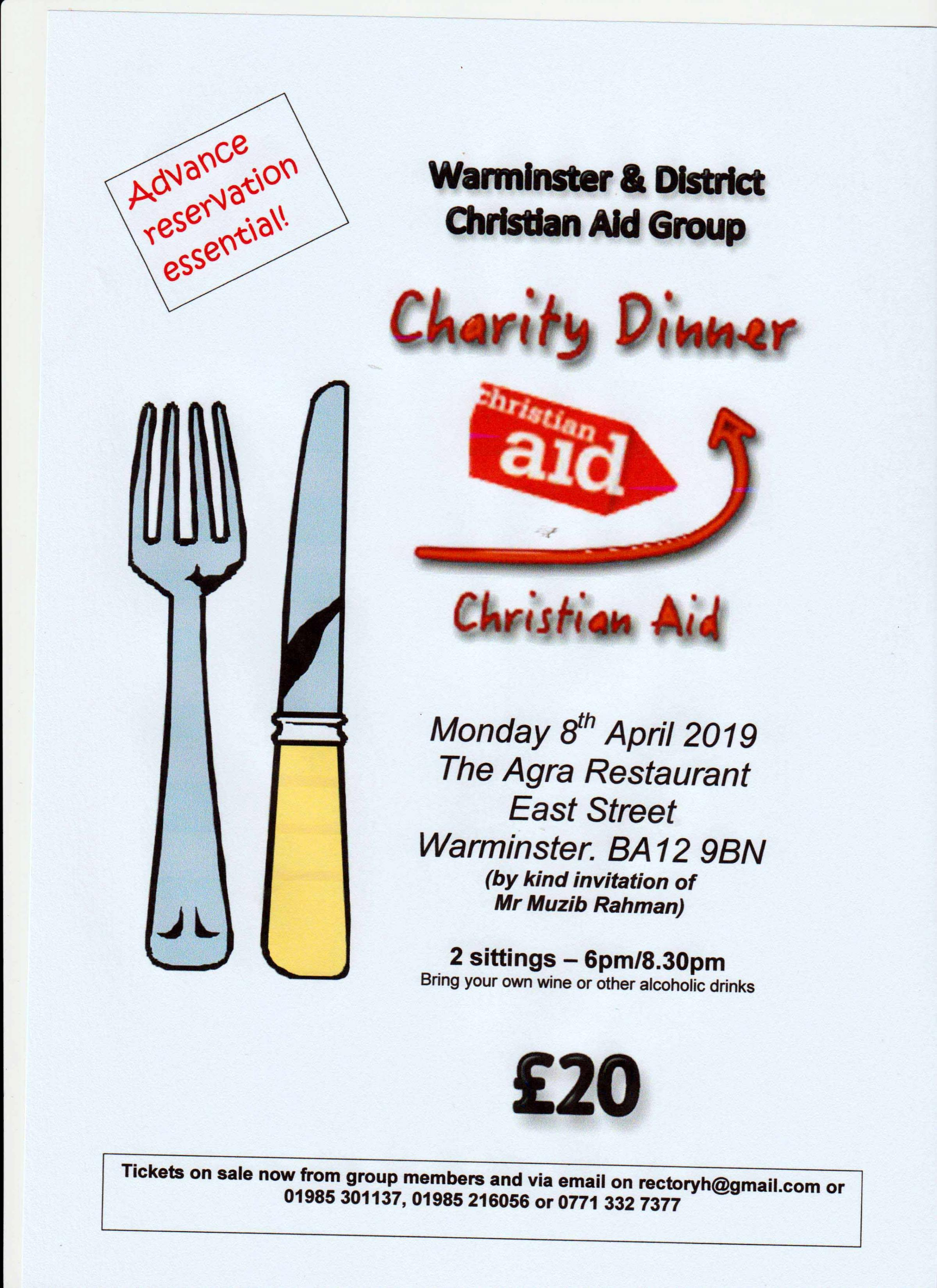 Indian Meal in aid of Christian Aid