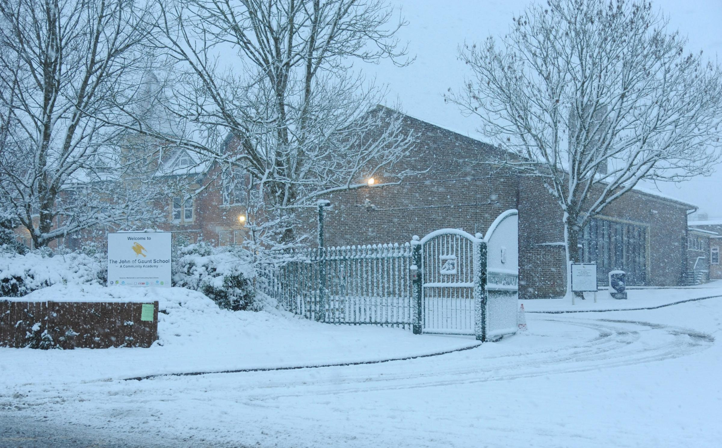 Schools across Wiltshire are closed today