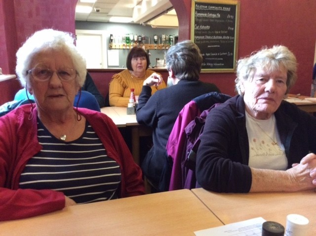 Doreen Hutchings and Eileen Wild were among diners at the first sitting