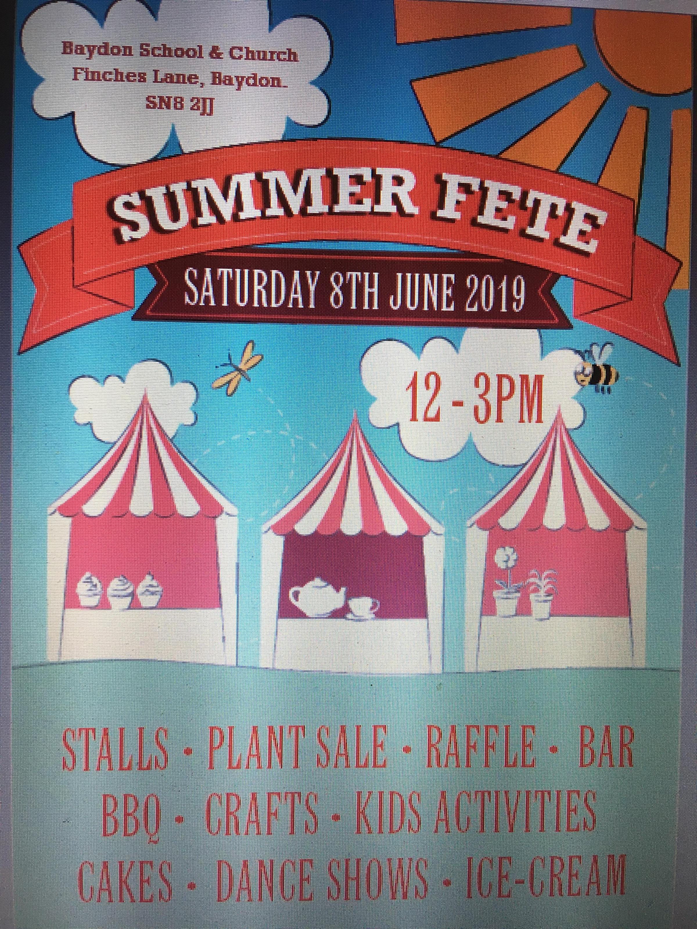 Baydon School & Church Summer Fete