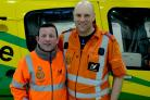 Fred Thompson and Dan Tucker, critical care paramedics at Wiltshire Air Ambulance