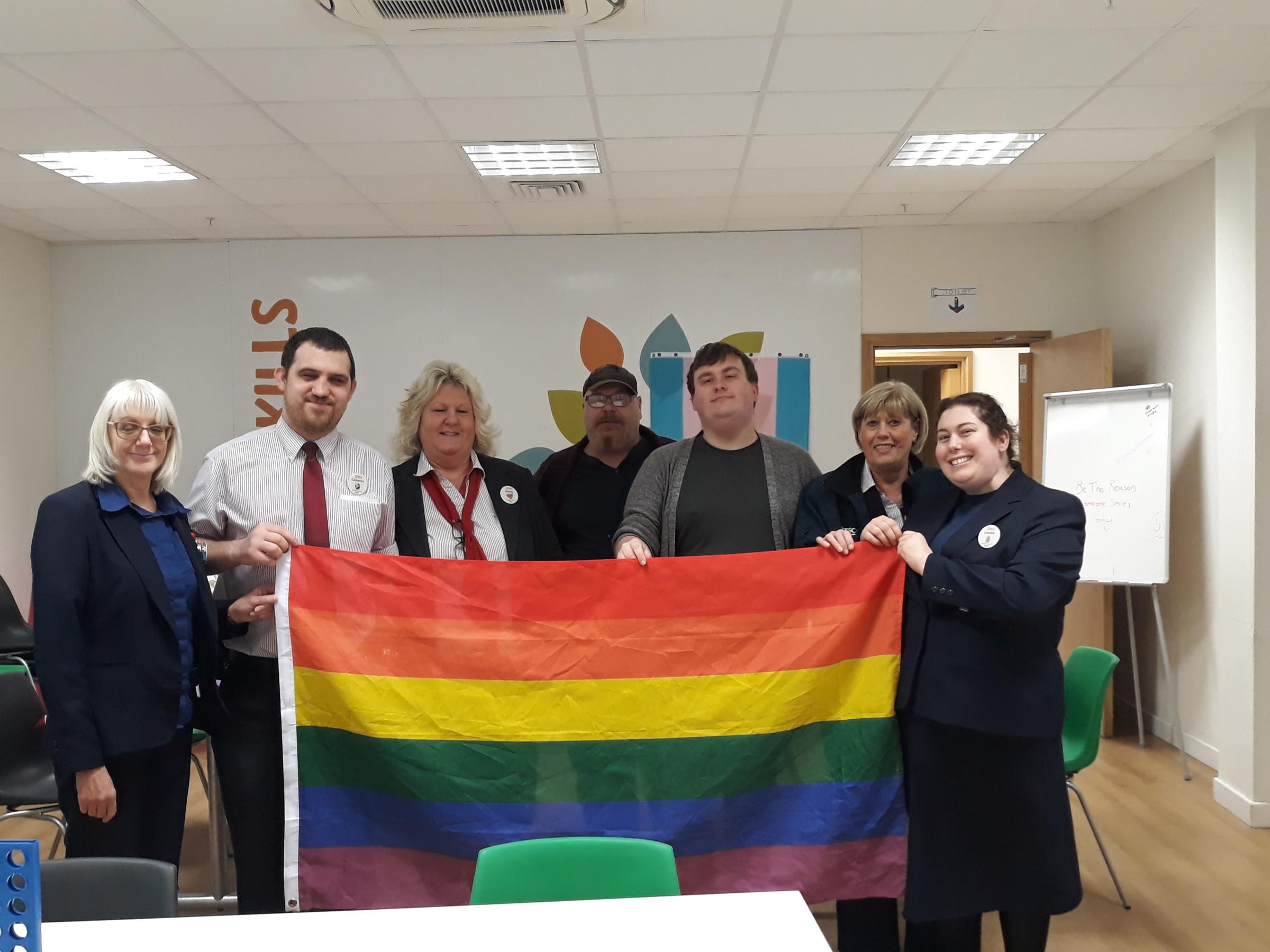Trowbridge pride group celebrated LGBT history month with a community session in Tesco.